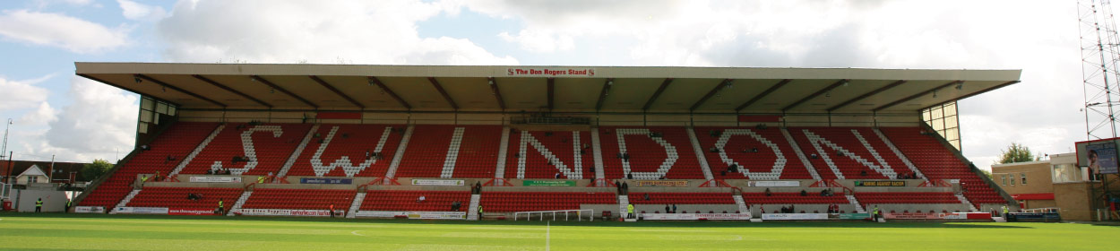 The County Ground stadium where Swindon Town play football in the