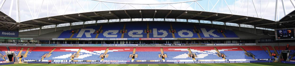 Macron Stadium where Bolton Wanderers play football in the