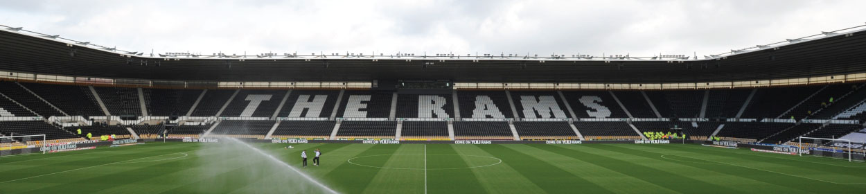 Pride Park Stadium where Derby County play football in the Championship