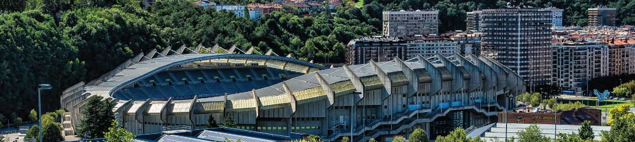 Anoeta stadium where Real Sociedad play football in the