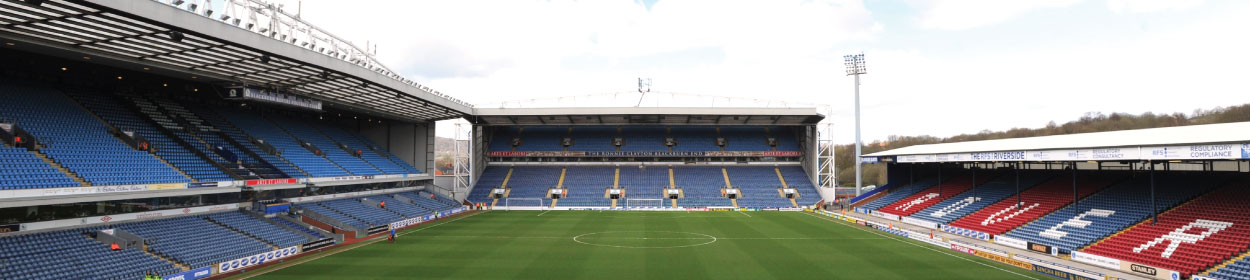 Ewood Park stadium where Blackburn Rovers play football in the