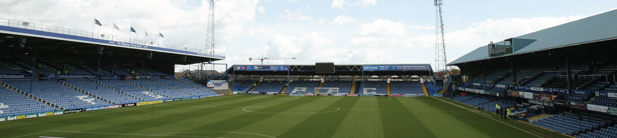 Fratton Park stadium where Portsmouth play football in the