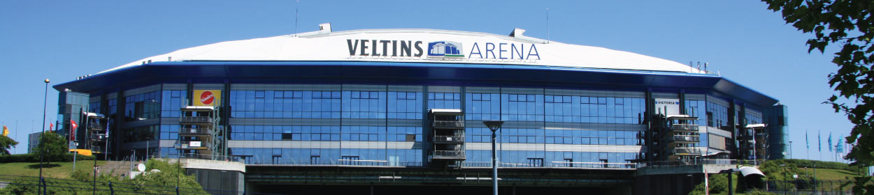 VELTINS-Arena stadium where FC Schalke 04 play football in the Bundesliga
