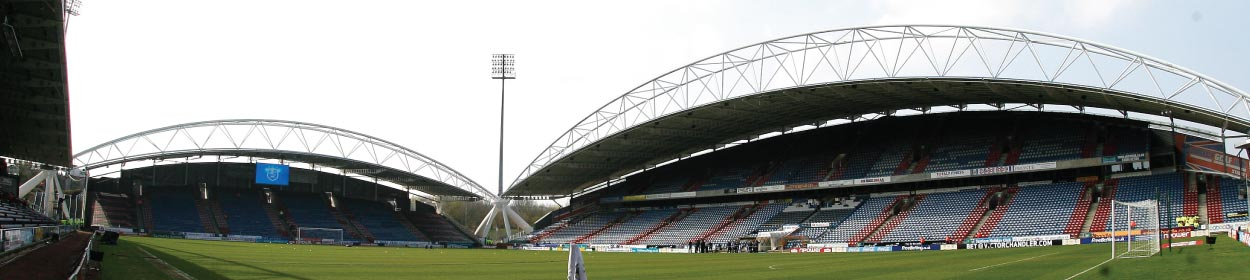 John Smith's Stadium where Huddersfield Town play football in the Premier League