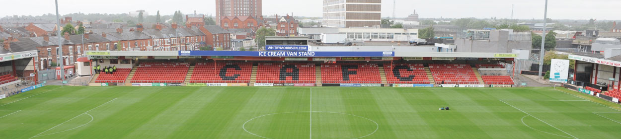 Alexandra Stadium where Crewe Alexandra play football in the