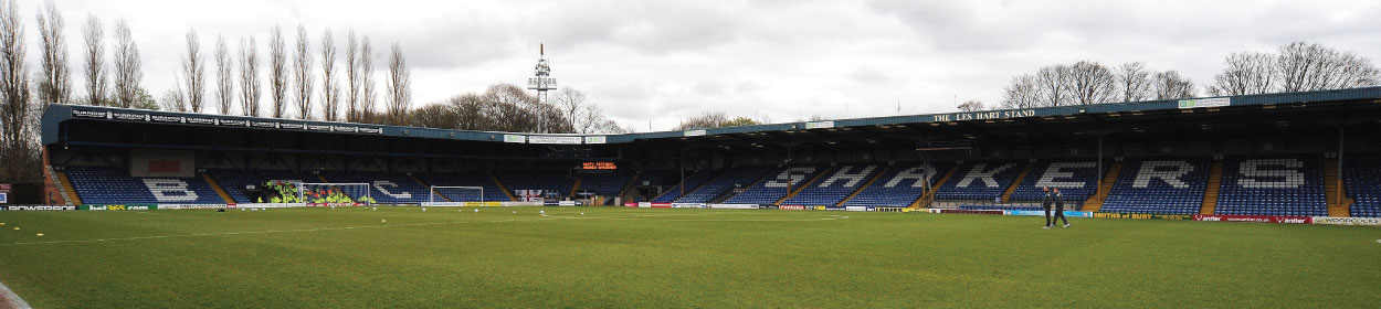 The Energy Check Stadium at Gigg Lane where Bury play football in the League One