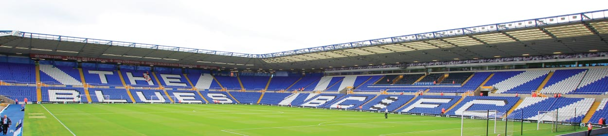 St. Andrew's Stadium where Birmingham City play football in the