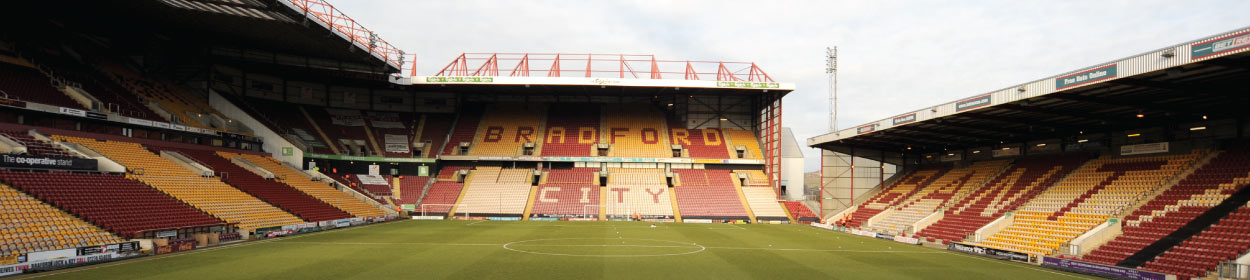 Northern Commercials Stadium where Bradford City play football in the
