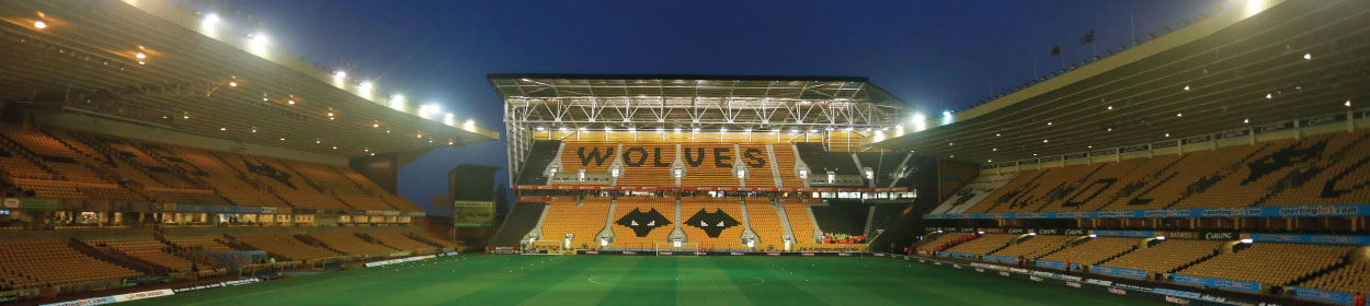 Molineux Stadium where Wolverhampton Wanderers play football in the Premier League