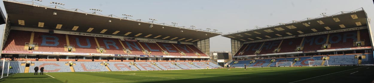 Turf Moor stadium where Burnley play football in the