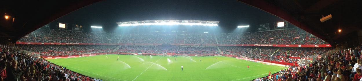 Ramón Sánchez-Pizjuán stadium where Sevilla play football in the