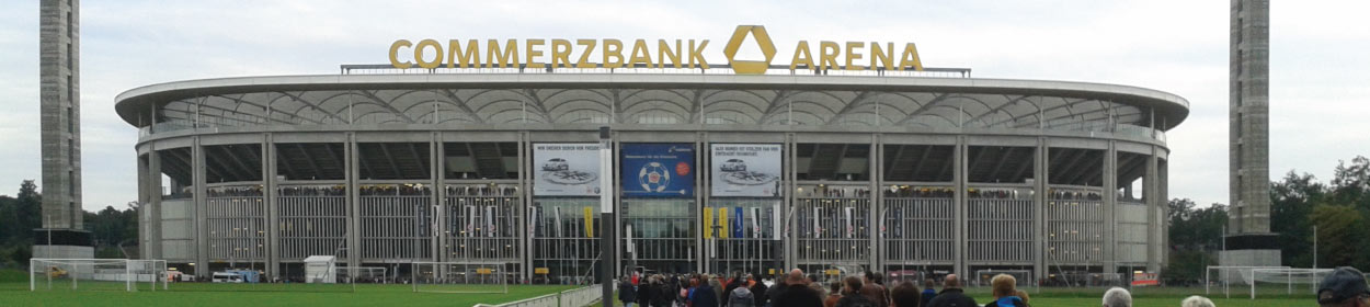 Commerzbank-Arena stadium where Eintracht Frankfurt play football in the European Europa League