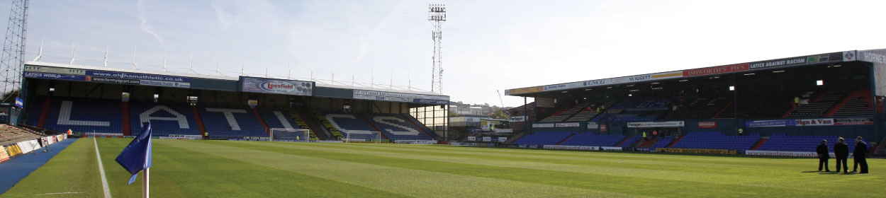 Boundary Park stadium where Oldham Athletic play football in the