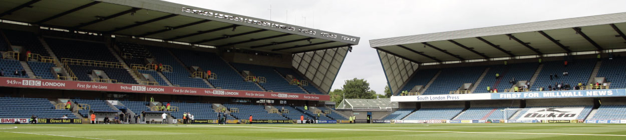 The Den stadium where Millwall play football in the