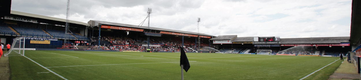 Kenilworth Road stadium where Luton Town play football in the League Two
