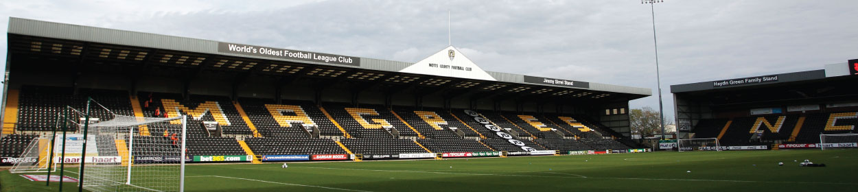 Meadow Lane stadium where Notts County play football in the League Two