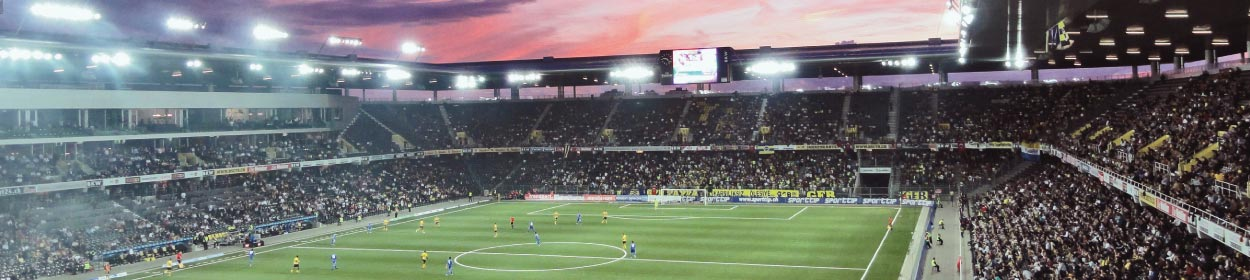Stade de Suisse stadium where BSC Young Boys play football in the Super League