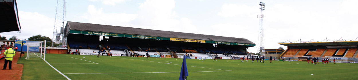 The Abbey Stadium where Cambridge United play football in the League Two