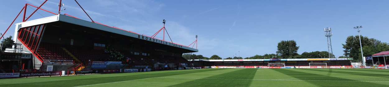 Checkatrade.com Stadium where Crawley Town play football in the