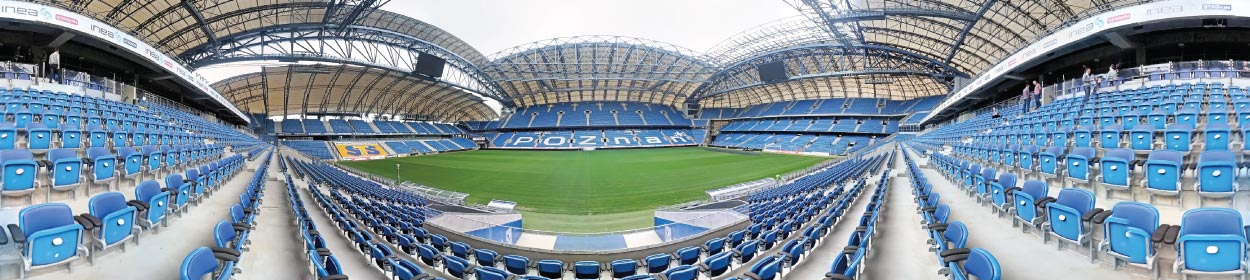 Stadion Miejski stadium where Lech Poznan play football in the