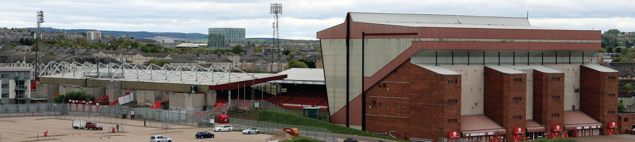 Pittodrie Stadium where Aberdeen play football in the
