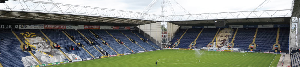 Deepdale stadium where Preston North End play football in the
