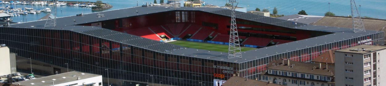 stadium where Neuchatel Xamax play football in the Super League