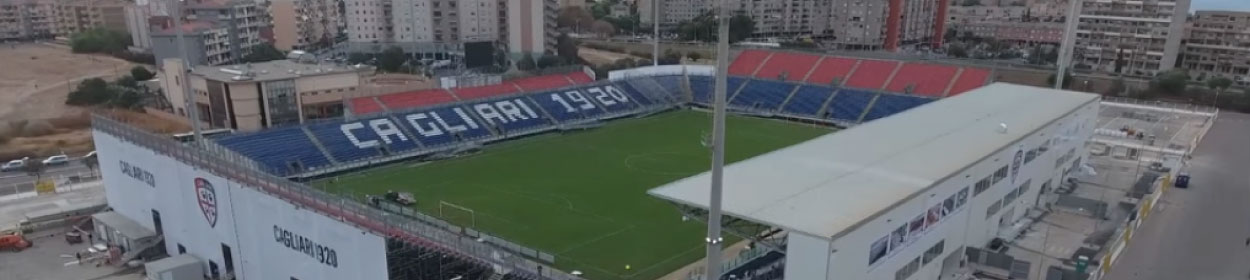 Sardegna Arena stadium where Cagliari play football in the Serie A