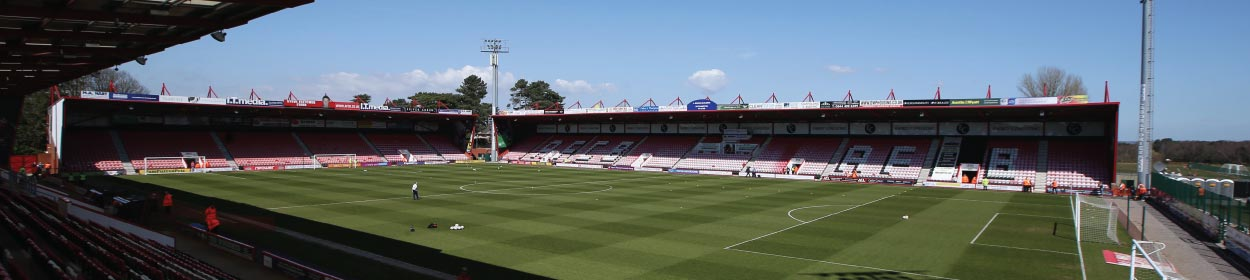 Vitality Stadium where Bournemouth play football in the