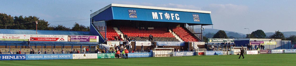 Moss Rose stadium where Macclesfield Town play football in the