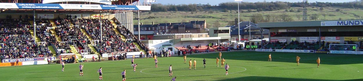 Sincil Bank stadium where Lincoln City play football in the