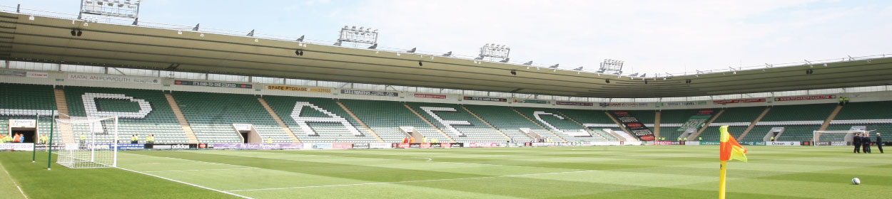 Home Park stadium where Plymouth Argyle play football in the
