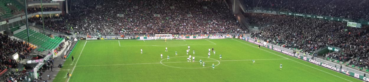 Stade Geoffroy-Guichard stadium where St Etienne play football in the Ligue