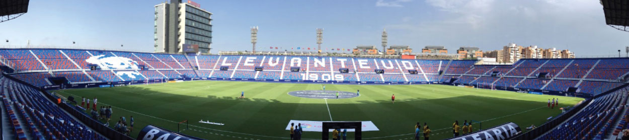 Ciutat de Valencia stadium where Levante play football in the
