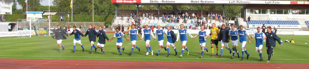 stadium where Lyngby play football in the Superligaen