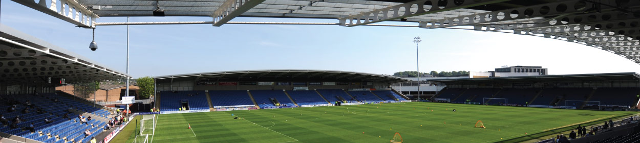Proact Stadium where Chesterfield play football in the League Two