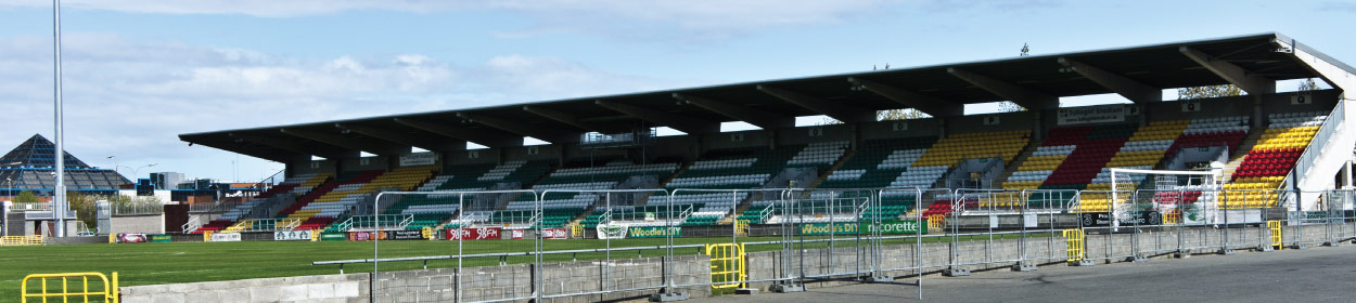 Tallaght Stadium where Shamrock Rovers play football in the