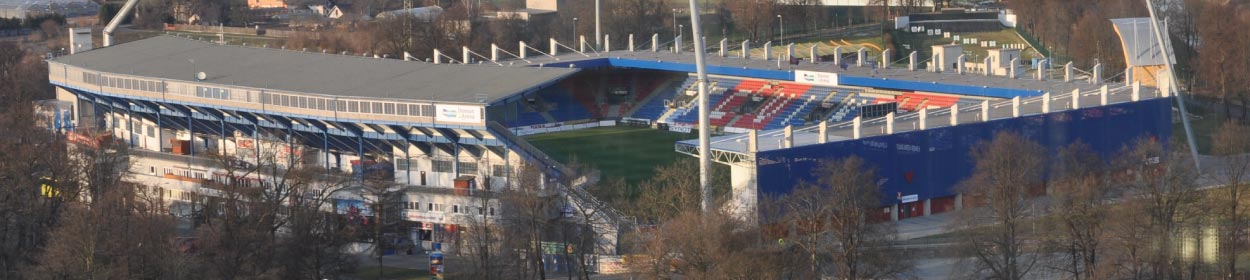 Doosan Arena stadium where Viktoria Plzen play football in the