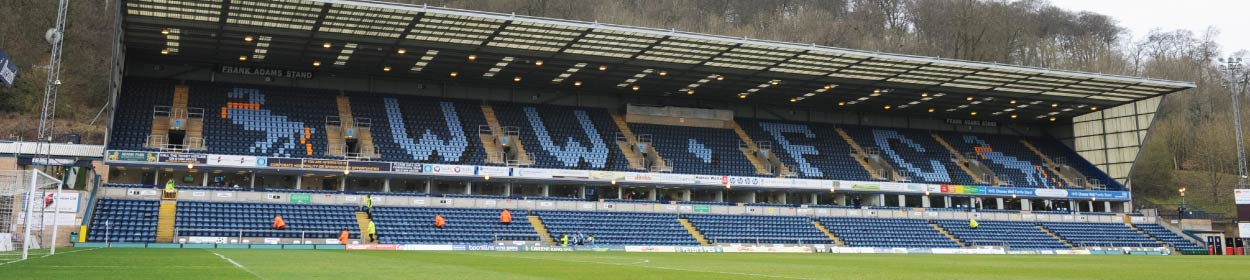 Adams Park stadium where Wycombe Wanderers play football in the