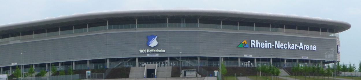 WIRSOL Rhein-Neckar-Arena stadium where TSG 1899 Hoffenheim play football in the