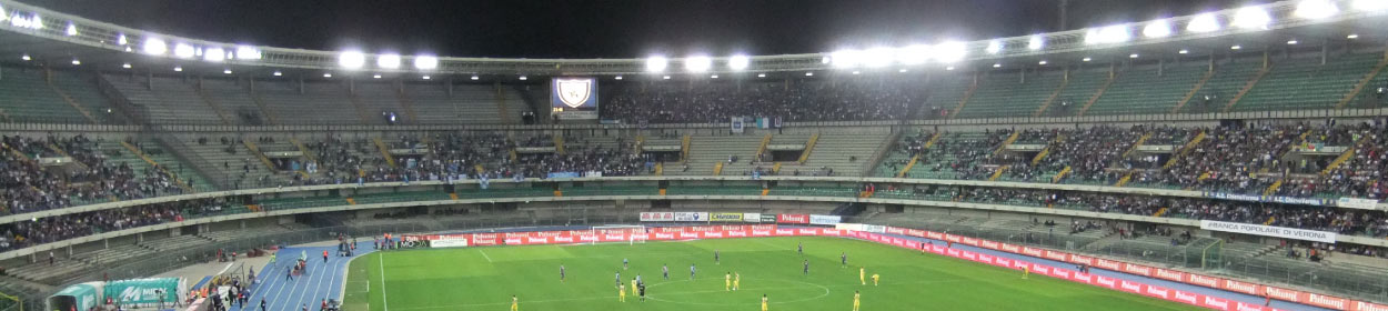 Marcantonio Bentegodi stadium where Verona play football in the