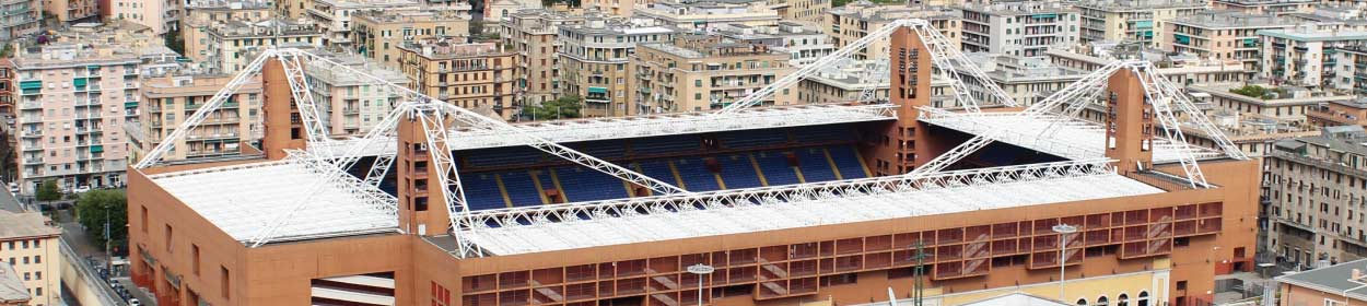 Luigi Ferraris stadium where Genoa play football in the Serie A