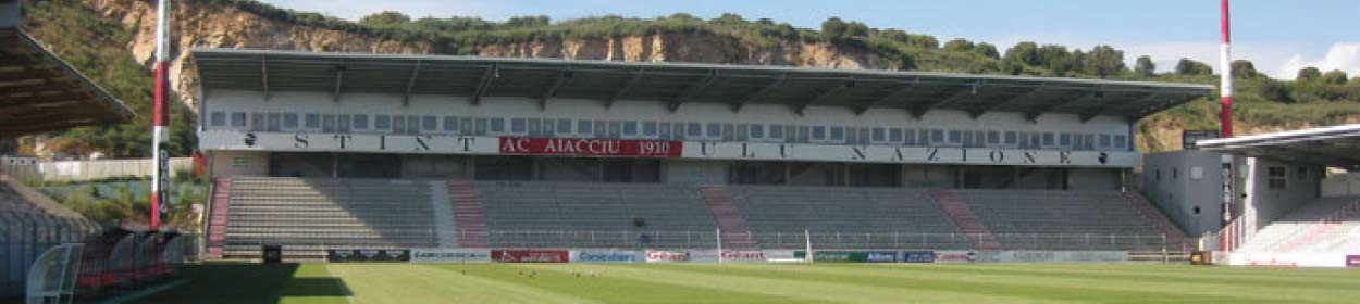 Stade François-Coty stadium where Ajaccio play football in the