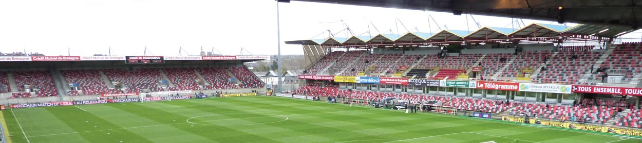 Stade Municipal de Roudourou stadium where Guingamp play football in the