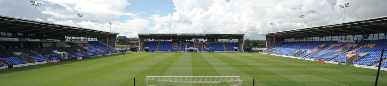 Montgomery Waters Meadow stadium where Shrewsbury Town play football in the