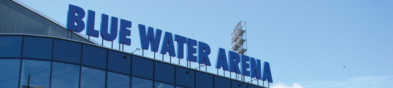Blue Water Arena stadium where Esbjerg play football in the