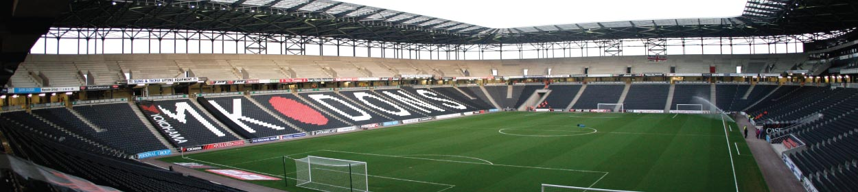 Stadium mk stadium where MK Dons play football in the League Two