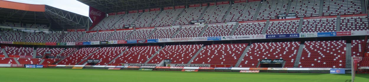 El Molinón stadium where Sporting de Gijon play football in the