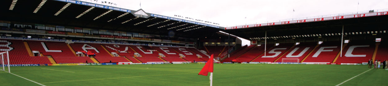 Bramall Lane stadium where Sheffield United play football in the