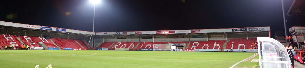 Jonny-Rocks Stadium where Cheltenham Town play football in the